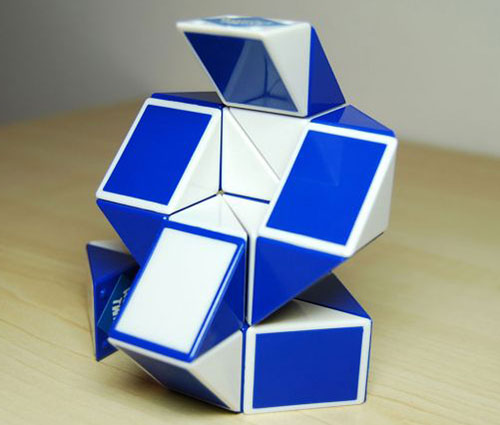 Rubik Snake Plavo-beli