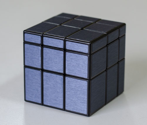 QY Mirror 3x3 Black-Blue Kocka
