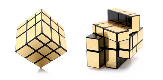 mirror zlatna cube